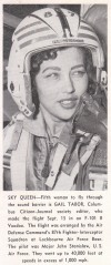 Gail Tabor in flight helmet