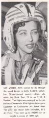 Gail Tabor in flight helmet